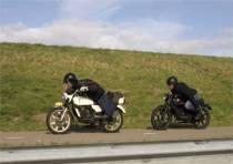 Z?ndapprijders op Afsluitdijk