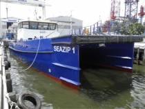 Twee catamarans te water in Singapore voor SeaZip