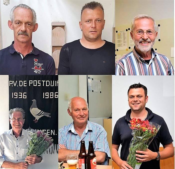 Boven vlnr: Henk en Willem van Velzen, Jan Heeres vertegenwoordigt Gebr. Heeres & Zoon. Onder vlnr: Dirk Buwalda, Sjouke van der Boom en Willem Buwalda.