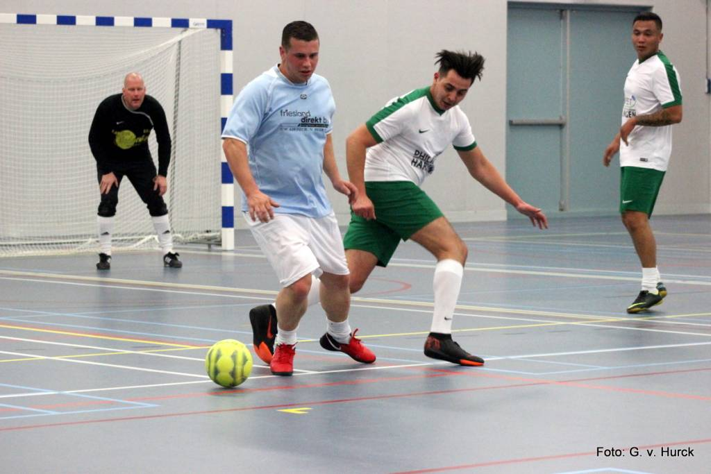 Snelle actie Niels Vlottes tijdens de wedstrijd Friesland Direct – Philipse IT.