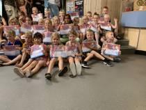 32 Zwemmertjes zwemschool Van Hurck geslaagd