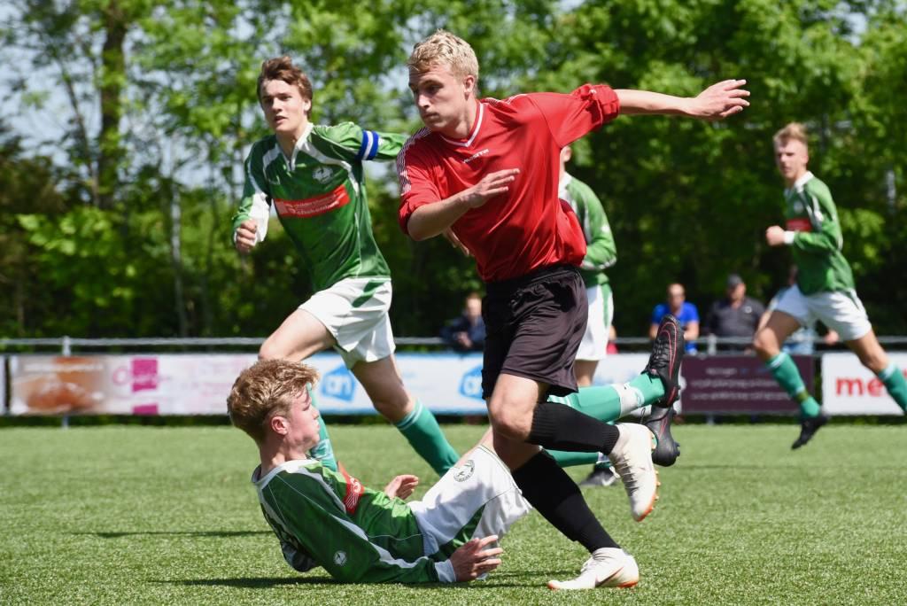 Zeerobben JO19-1 verloor thuis met 1-3 van Winsum en is uitgeschakeld voor promotie naar de 4e divisie.(Foto: Frans Bode)