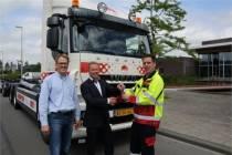 Haakarmauto op groen gas naar Harlingen