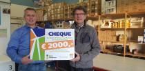 Energieke kerstgift voor Voedselbank de Helpende hand