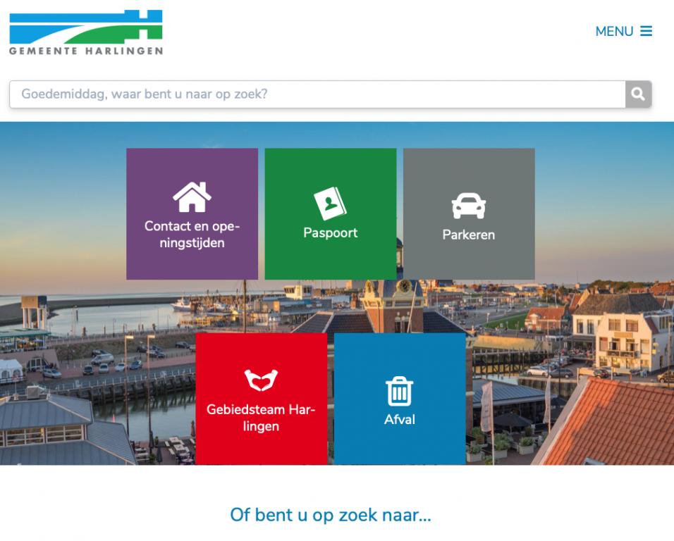 Vernieuwde website gemeente Harlingen - Harlinger Courant