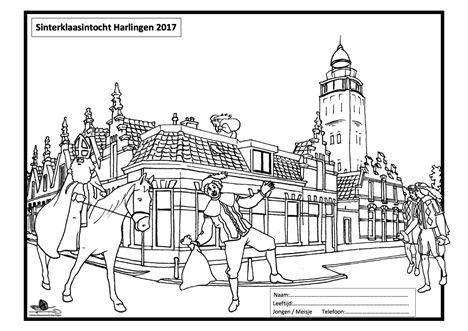 Kleurplaten Voetbal Piet.Sint Kleurplaat In Hc Harlinger Courant