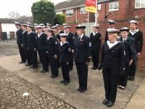 Zeekadetkorps Harlingen neemt deel aan Remembrance Day in Engeland
