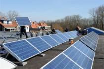 Zonnepanelen op dak Flevodruk Harlingen