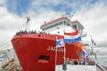Muzikale doop Vlielander vrachtschip Jaguar