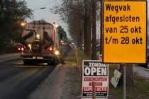 Nieuw asfalt voor Kanaalweg