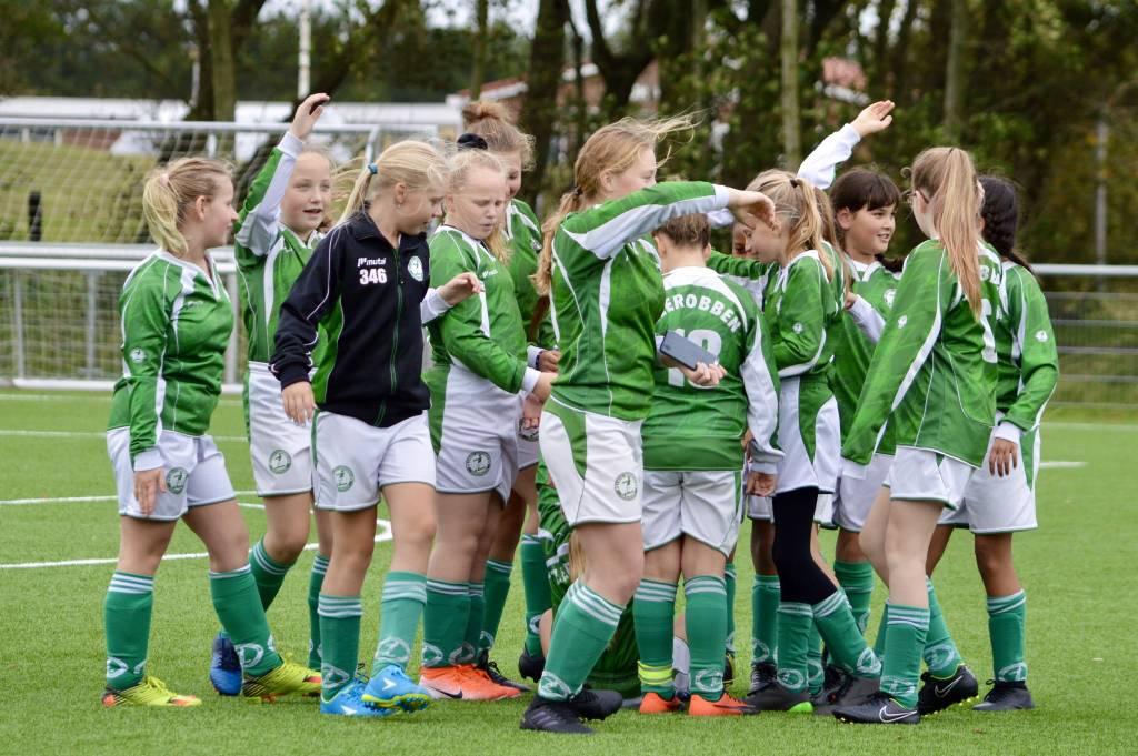 Geen punten voor MO13-1 maar wel een team zo bleek afgelopen zaterdag op Ameland waar ruim werd verloren van Geel Wit.(Foto: Annemiek van Keulen)