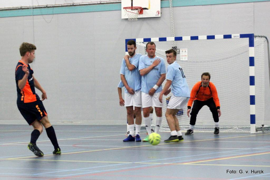 De edele delen werden goed beschermd door de mannen tijdens de wedstrijd Oosterhof/Holman-Friesland Direct.