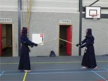 Japanse vechtsport kendo in Harlinger gymzaal