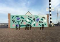 Bewuste kunst op Entrepotgebouw