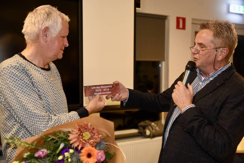 Lieuwe Wesselius nam afscheid als jeugdvoorzitter maar blijft actief binnen de club. (Foto: Frans Bode)