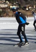 Hendrik Bakker schaatst 'Weissensee' voor de 42e keer