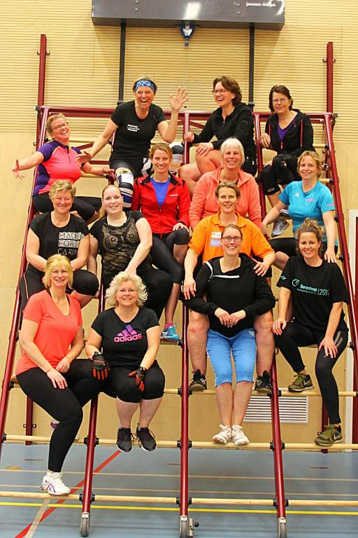 Kimswerd Wallball Ladies 35+ deelnemers.