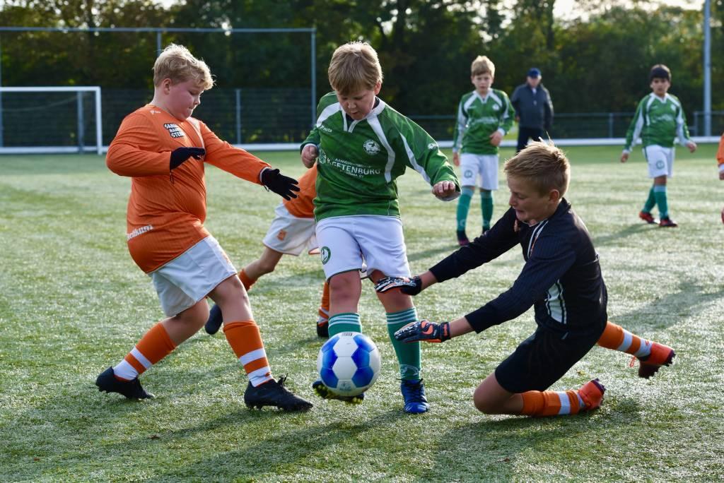 JO11-1 (spelend onder de vlag van JO12-4) speelden tegen Berlikum en verloor met 2-7. (Foto: Frans Bode)